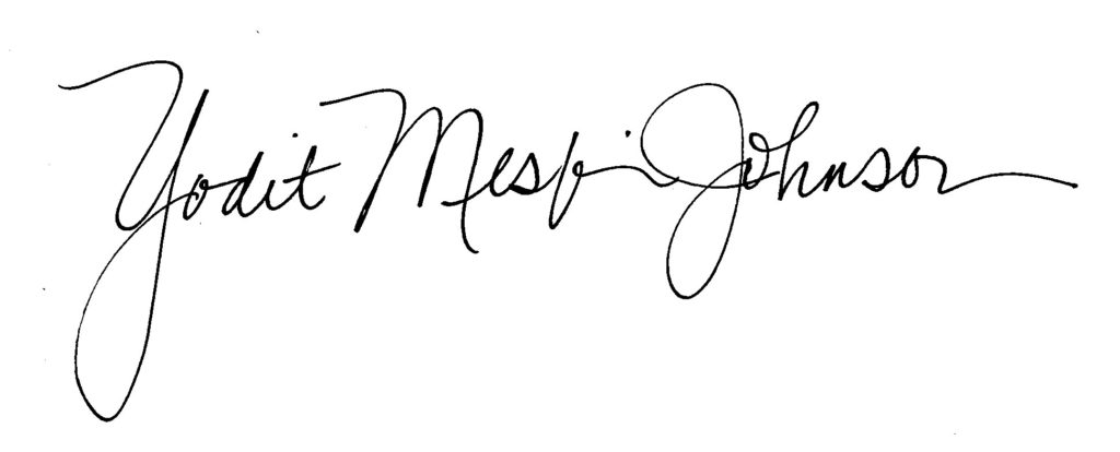 Yodit Mesfin Johnson signature